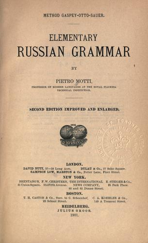 Download Elementary Russian grammar