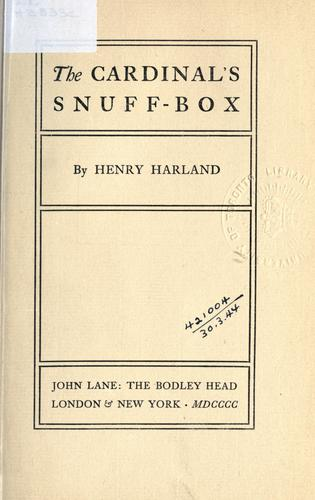 The Cardinal's snuff-box.