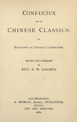Download Confucius and the Chinese classics
