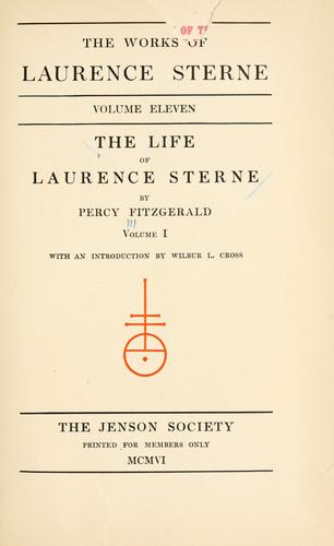 The life of Laurence Sterne by Judith Martin