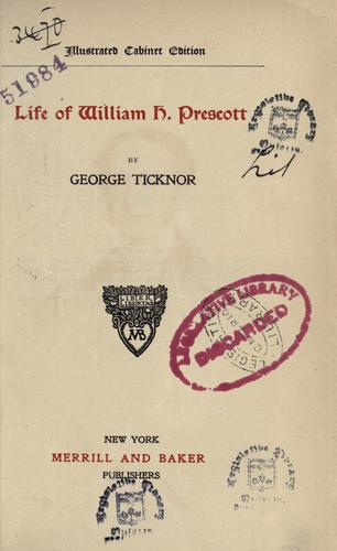 Download Life of William H. Prescott