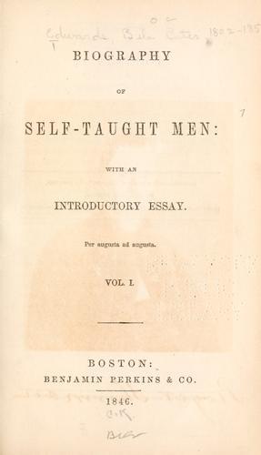 Download Biography of self-taught men