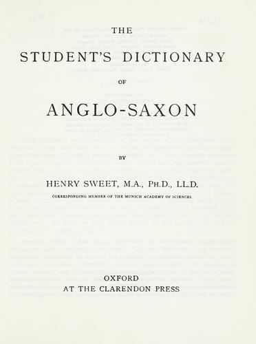 The student's dictionary of Anglo-Saxon.