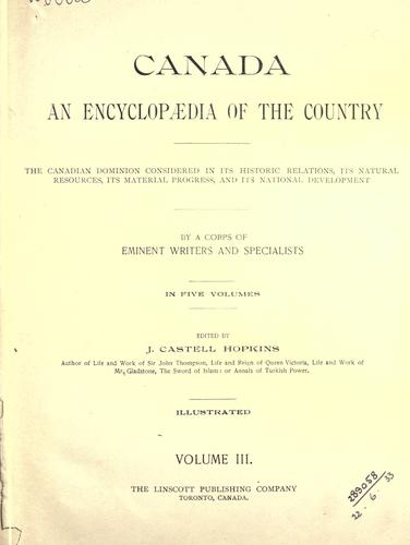 Download Canada, an encyclopaedia of the country