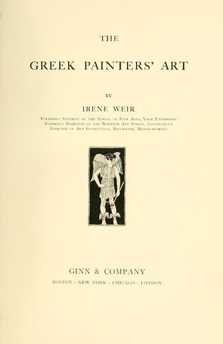 Download The Greek painters' art