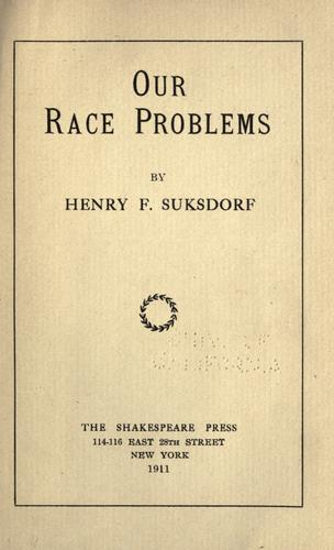 Download Our race problems