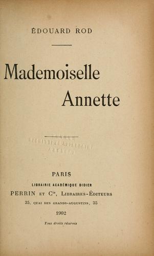 Mademoiselle Annette.