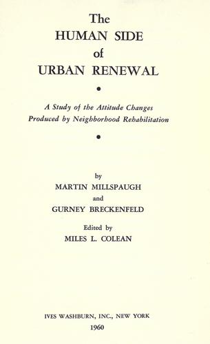 Download The Human Side of Urban Renewal