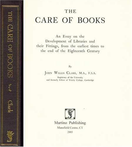 Download The care of books