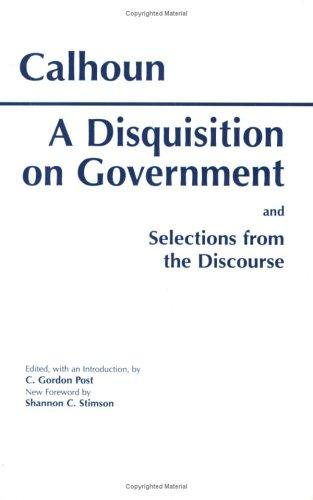 Download A Disquisition on Government