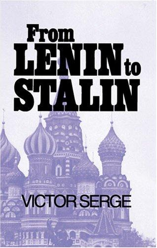 Download From Lenin to Stalin