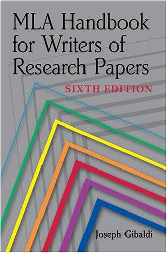 Download MLA handbook for writers of research papers
