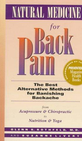 Natural medicine for back pain