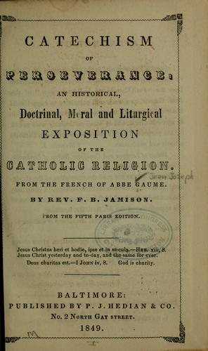 Download Catechism of perseverance