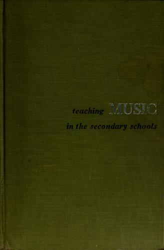 Download Teaching music in the secondary schools.