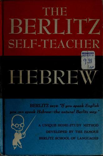 Download The Berlitz self-teacher: Hebrew