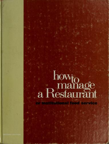 How to manage a restaurant or institutional food service