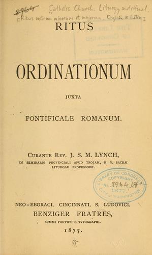 Ritus ordinationum