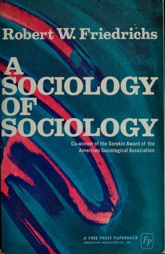 A sociology of sociology