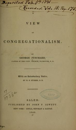A view of Congregationalism.