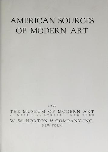 American sources of modern art …