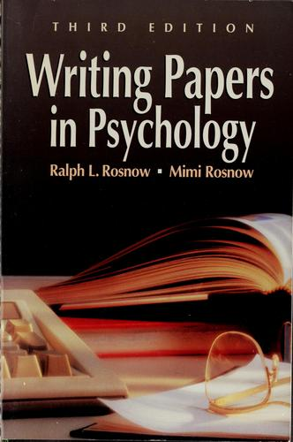 Download Writing papers in psychology