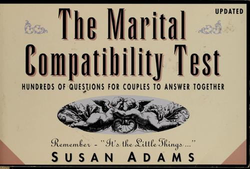 Download The marital compatibility test