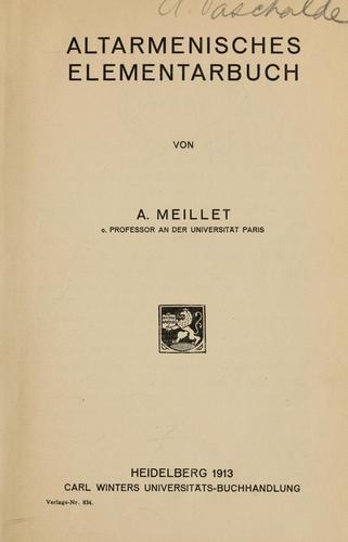 Download Altarmenisches Elementarbuch