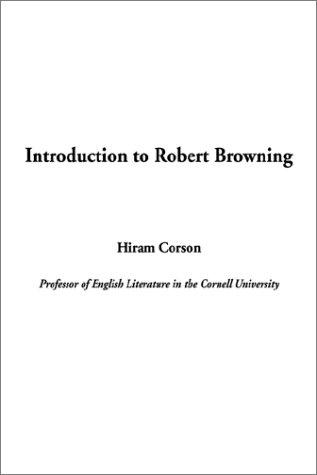 Download Introduction to Robert Browning
