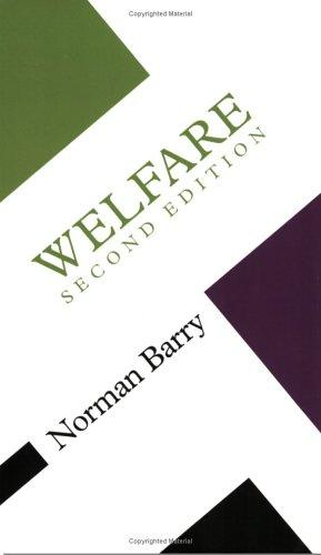Welfare (Concepts in the Social Sciences)