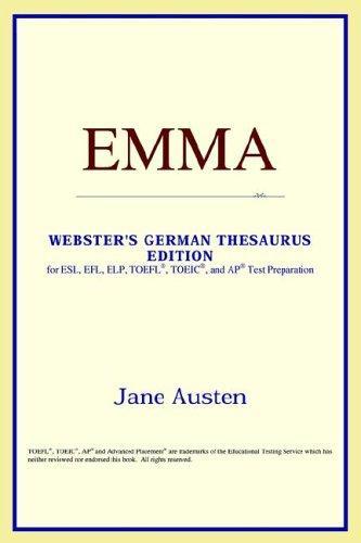 Download Emma (Webster's German Thesaurus Edition)