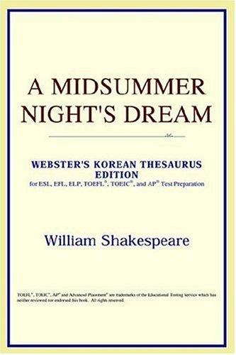 A Midsummer Night's Dream (Webster's Korean Thesaurus Edition)
