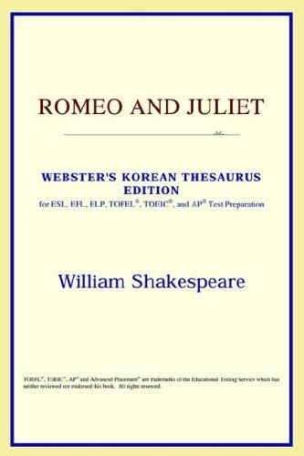Download Romeo and Juliet (Webster's Korean Thesaurus Edition)