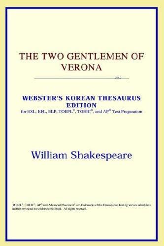 The Two Gentlemen of Verona (Webster's Korean Thesaurus Edition)