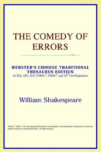 The Comedy of Errors (Webster's Chinese-Simplified Thesaurus Edition)