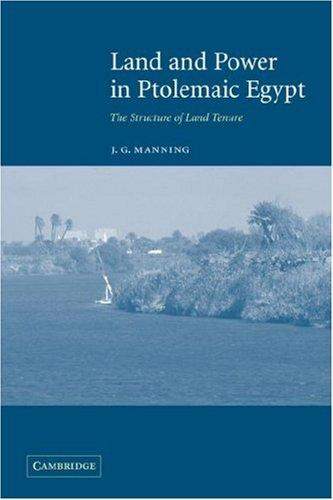 Download Land and Power in Ptolemaic Egypt