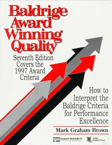 Download Baldrige Award Winning Quality