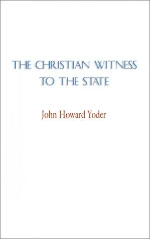 Download The Christian Witness to the State