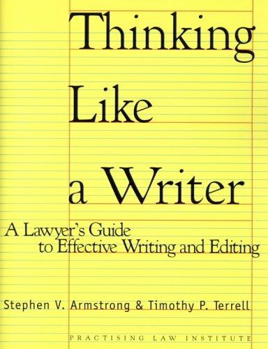 Download Thinking like a writer