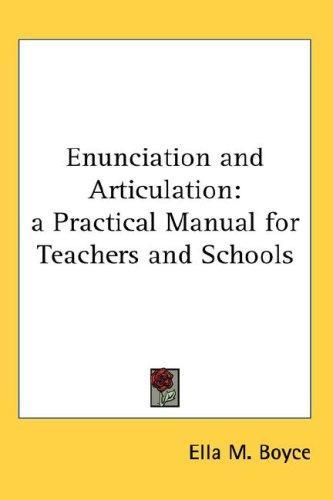 Download Enunciation and Articulation