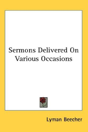 Download Sermons Delivered On Various Occasions