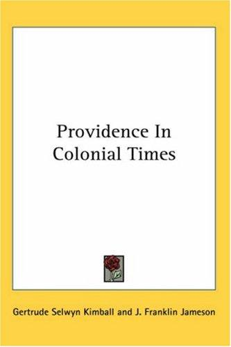 Download Providence In Colonial Times