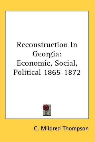 Reconstruction In Georgia