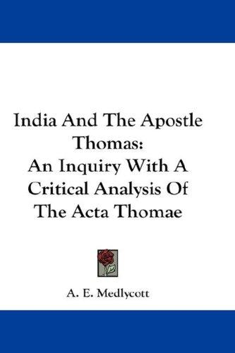 India And The Apostle Thomas