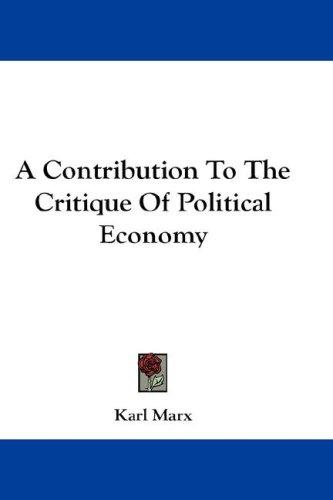 Download A Contribution To The Critique Of Political Economy