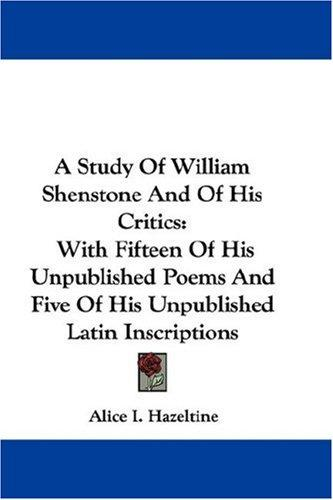 Download A Study Of William Shenstone And Of His Critics