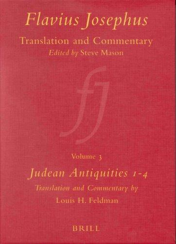 Flavius Josephus: Translation and Commentary