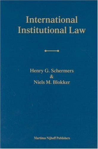Download International institutional law