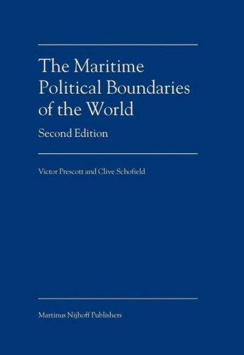 The maritime political boundaries of the world