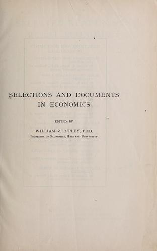 Selected readings in rural economics